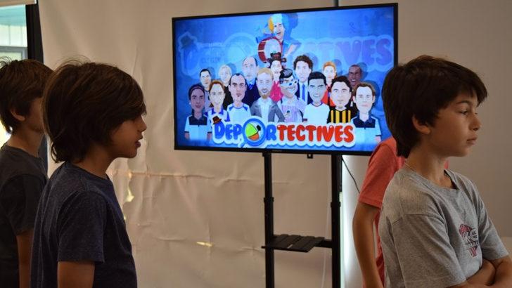"""Con presencia de importantes figuras del deporte nacional, la empresa Golden Bite lanzó su nuevo videojuego """"Deportectives"""""""
