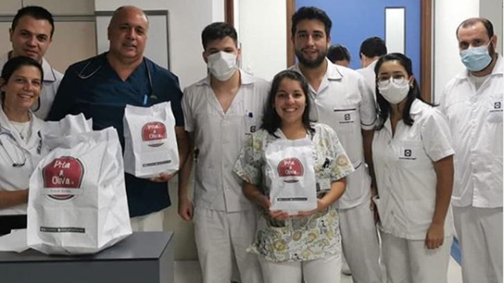 Codo a Codo: La iniciativa para regalarle platos de comida a funcionarios de la salud