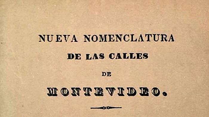 Nomenclátor de las calles de Montevideo (Paisaje-Ciudad T03P03)