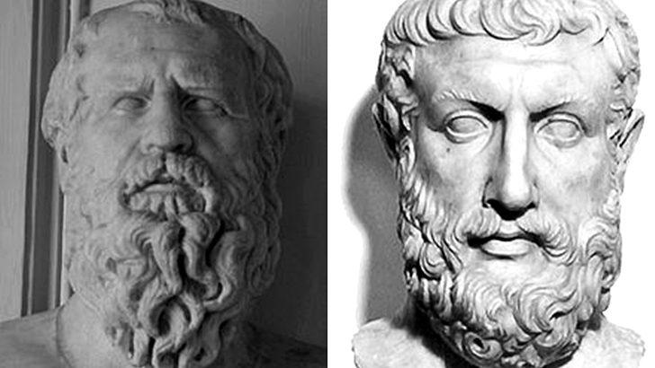 Parménides, Heráclito y pandemia
