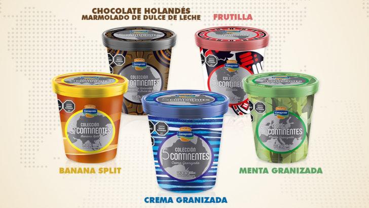 Helados Conaprole lanza nueva Colección 5 Continentes