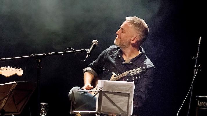 Con el músico Martín Buscaglia