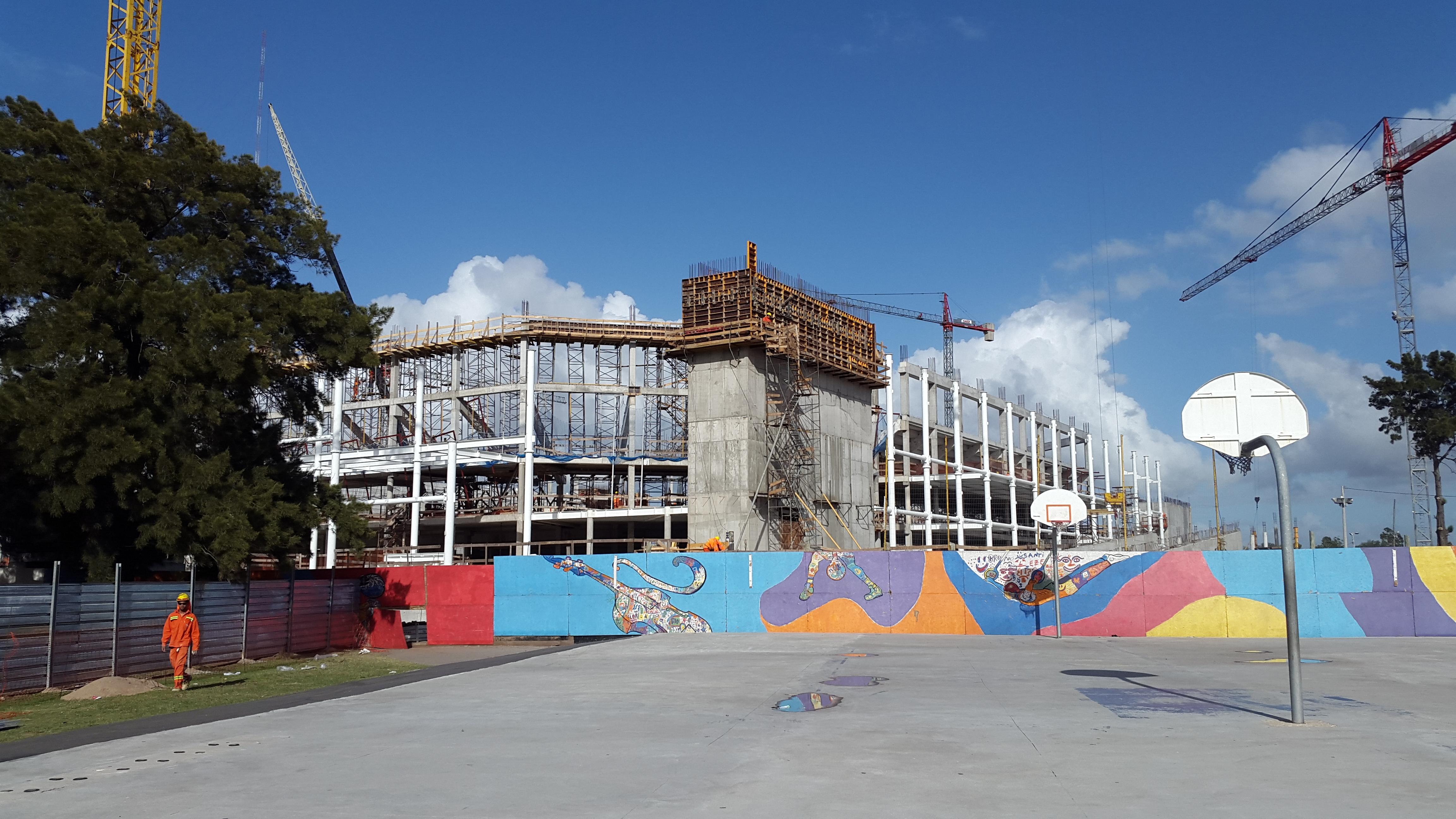 Los ojos de RosarioAvanza la construcción del Antel Arena