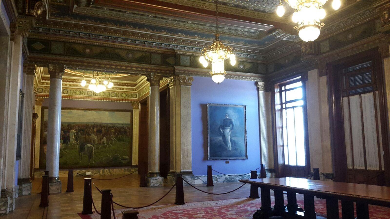 El renovado salón de fiestas del Palacio Legislativo