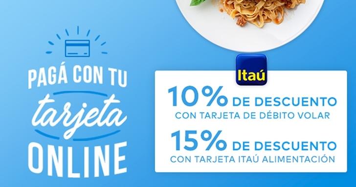PedidosYa propone a sus clientes ahorrar en su plato favorito con descuentos de Itaú