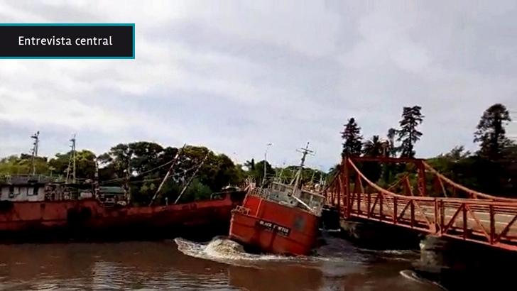 «Peligro latente» de barcos en Carmelo estaba «largamente anunciado, las autoridades eran conscientes», dice jerarca del Comité Departamental de Emergencia de Colonia