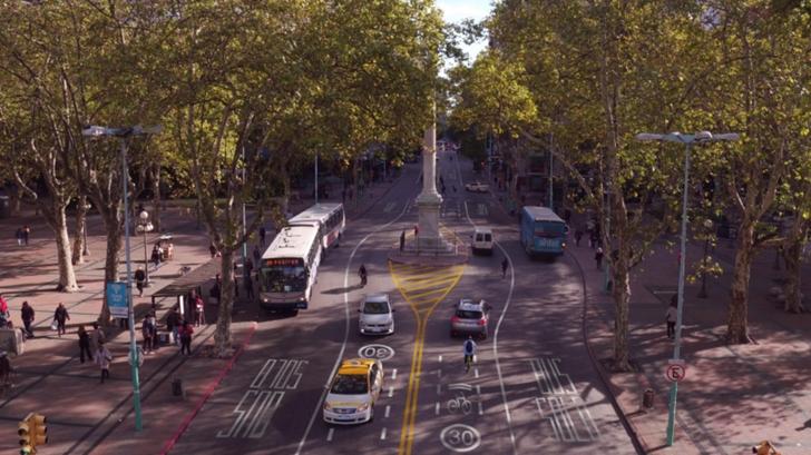 Así es el nuevo proyecto de la Intendencia de Montevideo para reformar 18 de Julio