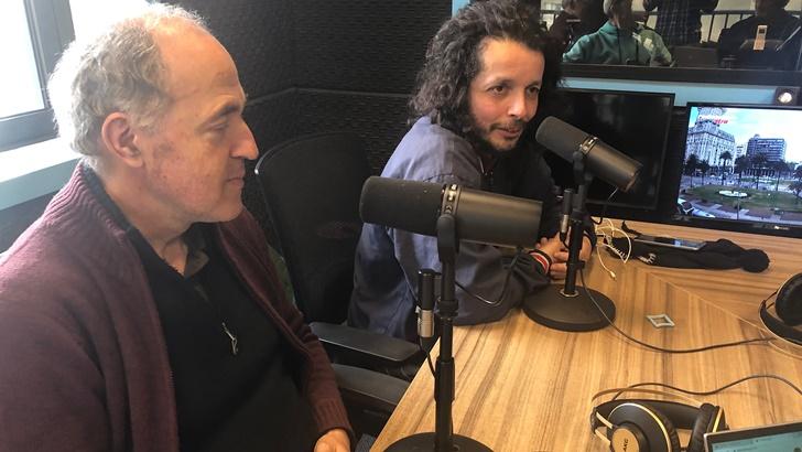 Un mate con Ernesto Díaz y Rubén Olivera (La Canoa T02P126)