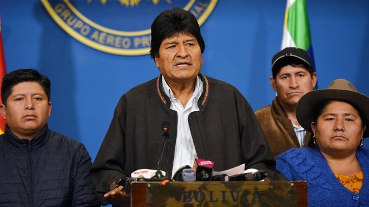 Bolivia: Renuncia Evo Morales luego de perder el apoyo de las Fuerzas Armadas