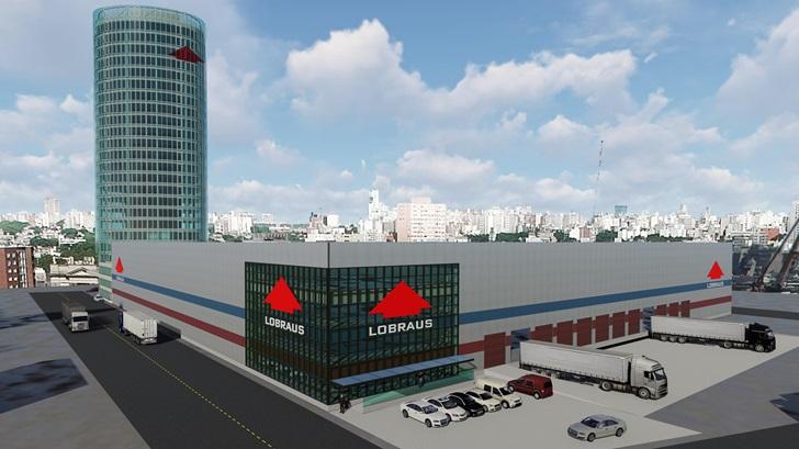 """Lobraus inicia construcción de megaproyecto logístico con una torre de oficinas en el puerto de Montevideo para atraer nueva carga y ofrecer servicios a """"cualquier empresa que use al Mercosur como plataforma de distribución"""""""