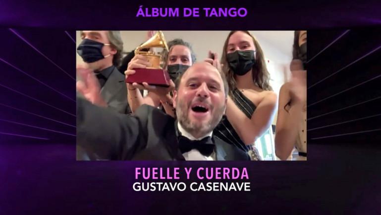 Gustavo Casenave El uruguayo se llevó el Grammy Latino a mejor álbum de tango