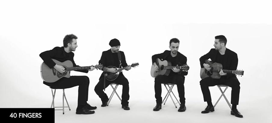 Talentosos guitarristas italianos son furor en redes: 40 Fingers