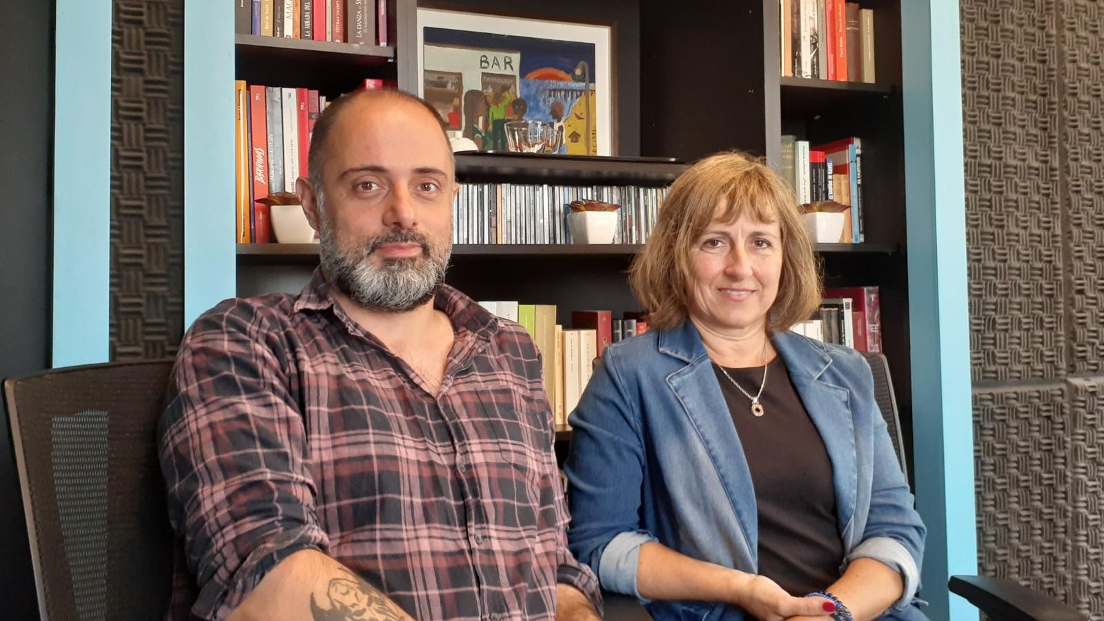 Mercedes Estramil y Ramiro Sanchiz visitaron Oír con los ojos