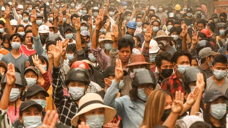 Junta militar golpista, represión y manifestaciones sangrientas: El panorama en Myanmar