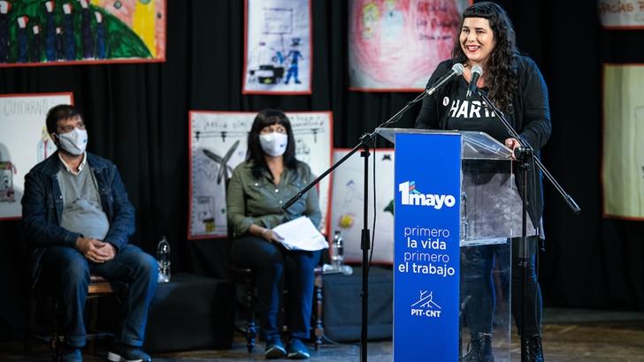 1º de mayo: PIT-CNT juntó alimentos para ollas populares y firmas contra la LUC