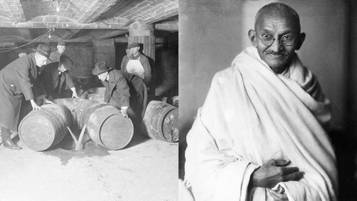 La Tertulia, de Colección. La Ley Seca y la campaña de desobediencia civil de Gandhi