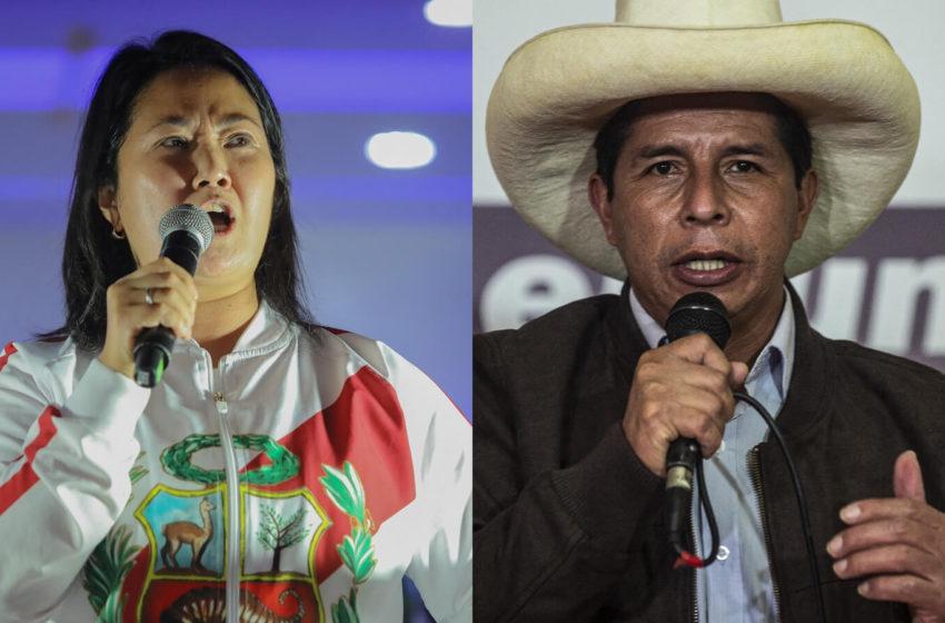 Perú: Impugnaciones atrasan definición del balotaje entre Castillo y Fujimori