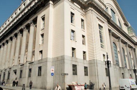 Uruguay / Montevideo / 2017 Banco de la República Oriental del Uruguay, BROU. Casa Central, vista desde la calle Piedras. Montevideo, 02/06/2017. Foto: Ricardo Antúnez / adhocFOTOS